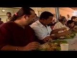 Rocky, Mayur enjoy Onam special feast
