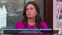 Sarah Sanders Dodges Question On Whether Donald Trump Owes Robert Mueller An Apology