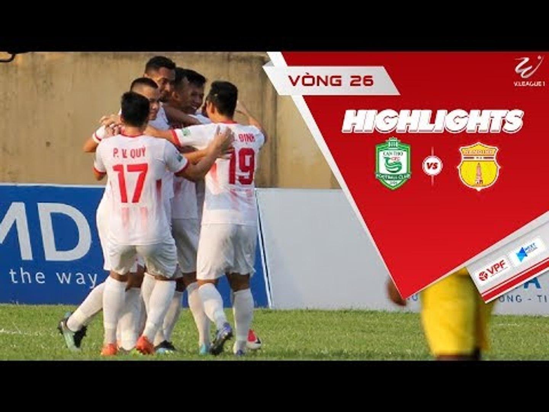Tiễn XSKT Cần Thơ xuống hạng, Nam Định giành suất play-off trụ hạng V-League 2018 | VPF Media