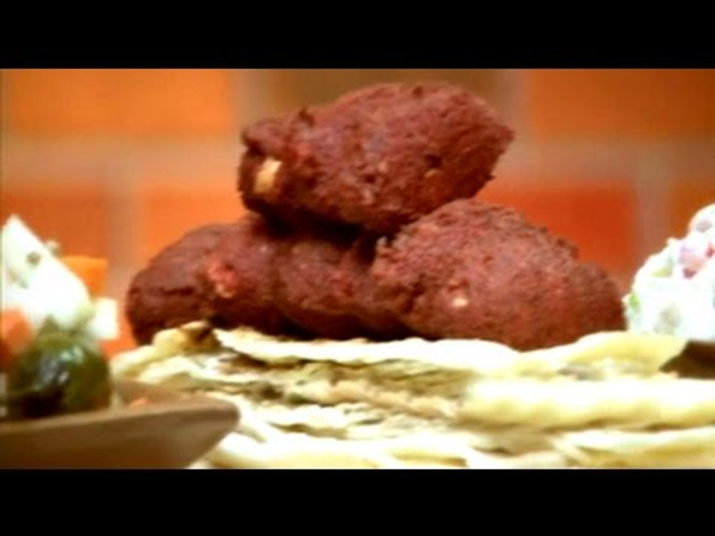 Watch recipe: Beet and Arbi Falafal with Housemade Pickles