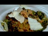 Watch recipe: Spinach and laal math broken wheat pilaf