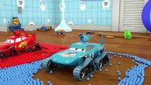 Apprendre les Couleurs Monstre Mcqueen Véhicule de Construction et de Boules Magiques pour les Enfants les Enfants