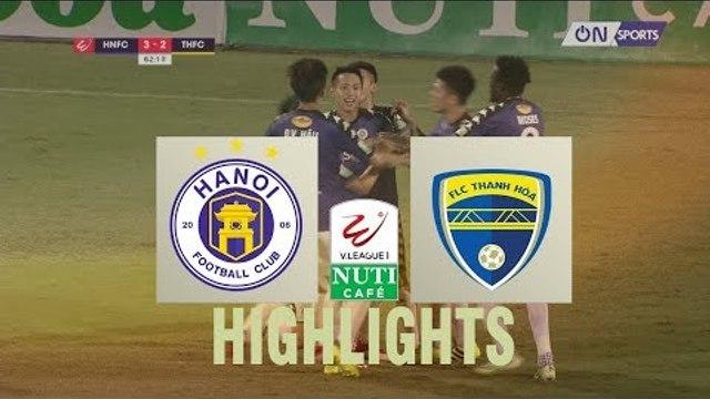 Hà Nội vượt qua Thanh Hóa trong một trận cầu ngập tràn cơn mưa bàn thắng  | VPF Media