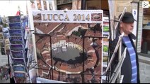 Lucca, an Italian city at the banks of Serchio