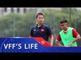 U19 Việt Nam trước ngày sang Trung Quốc tập huấn | VFF Channel