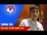 Tiền vệ Lương Xuân Trường thay mặt toàn đội gửi lời cảm ơn đến người hâm mộ bóng đá Việt Nam