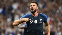 Les Bleus rendent hommage à Giroud