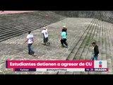 Alumnos de CCH Azcapotzalco detienen a porro | Noticias con Yuriria Sierra