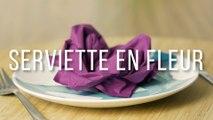 Comment plier une serviette en forme de fleur