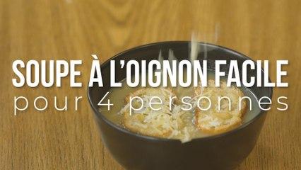 Soupe à l'oignon facile pour 4 personnes