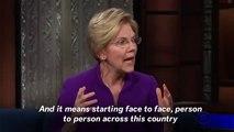 Elizabeth Warren Says America Should 'Never Elect A Man Like Donald Trump Again'