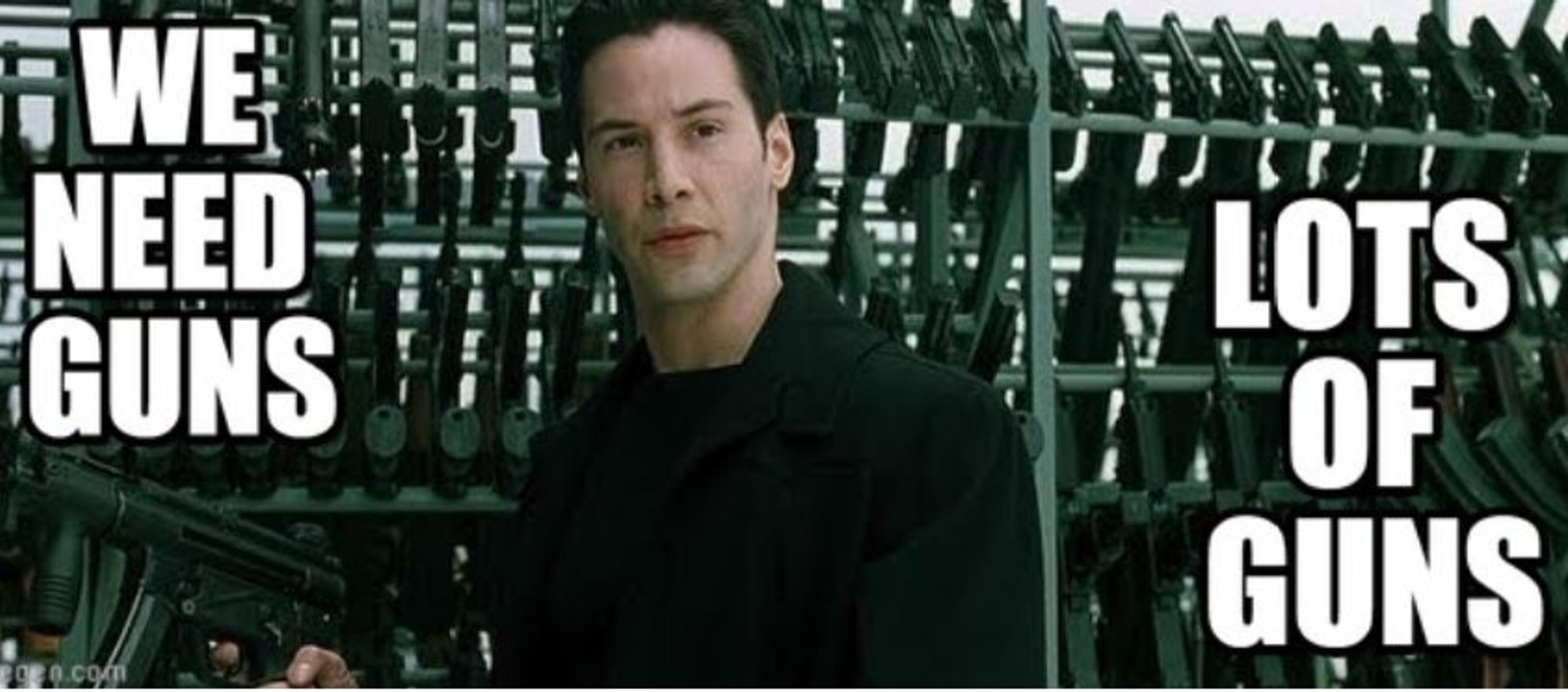 Matrix : we need guns, lots of guns - Keanu Reeves 1999 - Vidéo Dailymotion