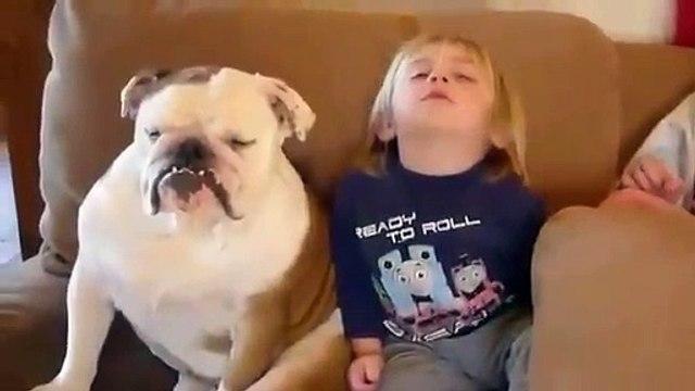 Çocuklar ve Hayvanların Sevimli Halleri