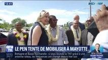 Marine Le Pen espère mobiliser les électeurs à Mayotte à l'approche des européennes