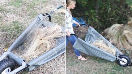 This Collapsible Wheelbarrow Is This Springs Best Yard Work Hack