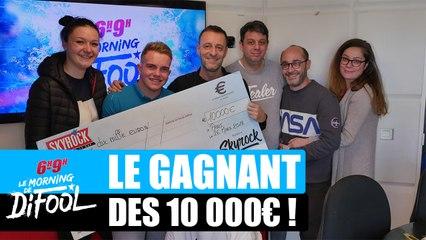 Killian repart avec son chèque de 10 000€ ! #MorningDeDifool