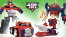 Transformers Rescue Bots Optimus Prime High Tide Deep Water Rescue Playskool || Keith's Toy Box