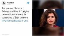 Tex accuse Marlène Schiappa d'être à l'origine de son licenciement, la secrétaire d'État dément