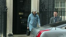 Theresa May departs 10 Downing Street in official car