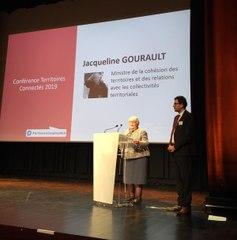 Conférence Territoires Connectés 2019 - Intervention de Jacqueline-Gourault, Ministre de la cohésion des territoires et des relations avec les collectivités territoriales