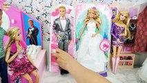 Poupées Barbie Robe de Mariée Shopping à la Boutique de robes de Mariée Gaun Pengantin Boneka Barbie Vestido De Noiva