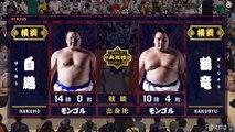 Hakuho vs Kakuryu - Haru 2019, Makuuchi - Day 15