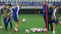(Subtitled) Chelsea 'confident' ahead of their 2nd leg UCL Women's quarter-final against PSG
