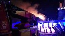 Incendie à Lyon Confluence : les pompiers en action