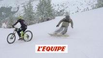 Ludovic Guillot-Diat défie Tom Barrer avec un vélo sur neige - Adrénaline - Test it