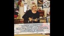 Louis Bertignac chante, dans son studio, pour «20 Minutes»