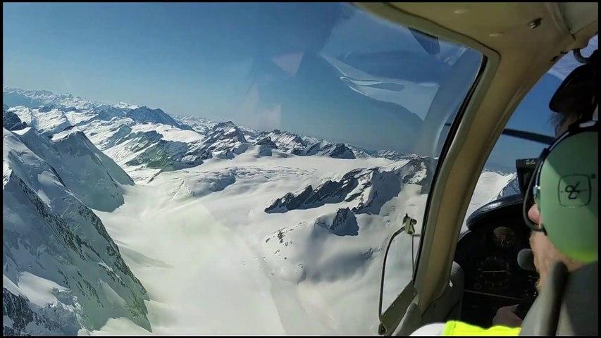 Vol dans les Alpes avec Romain aux commandes