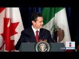 Justin Trudeau ignora a Enrique Peña Nieto en firma del T-MEC | Noticias con Ciro