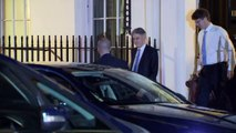 Hammond leaves Downing Street for Commons
