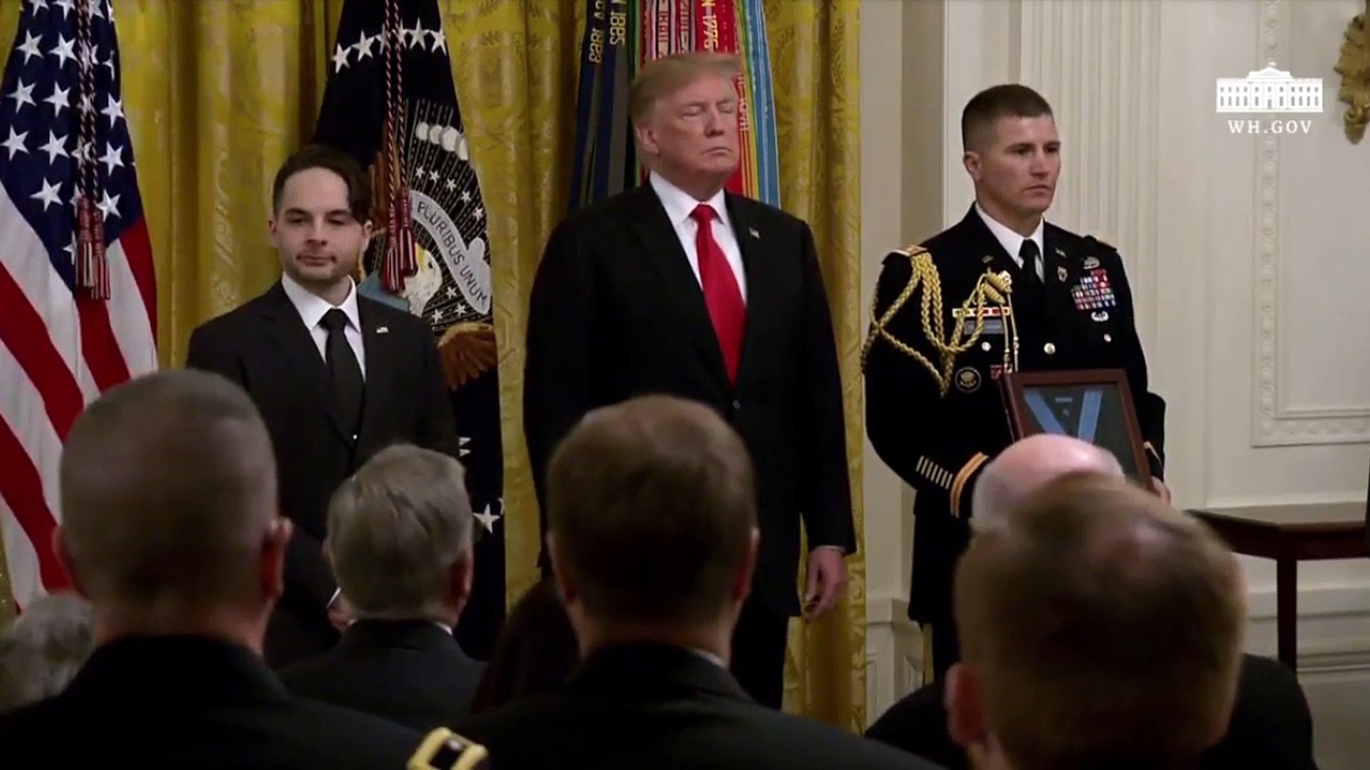 Trump Presents Medal Of Honor To Family Of Iraq War Hero