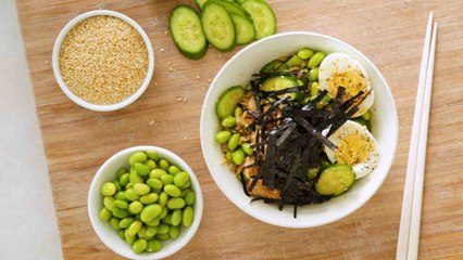 Vegetable and Seafood Grain Bowl