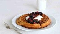 Whole-Wheat Waffles with Yogurt and Berries