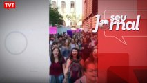 Estudantes da Mackenzie fazem escracho contra Bolsonaro