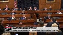 Pompeo reaffirms sanctions, pressure will continue against North Korea