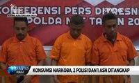 Edarkan dan Konsumsi Narkoba, 2 Polisi & 1 ASN Ditangkap Polisi