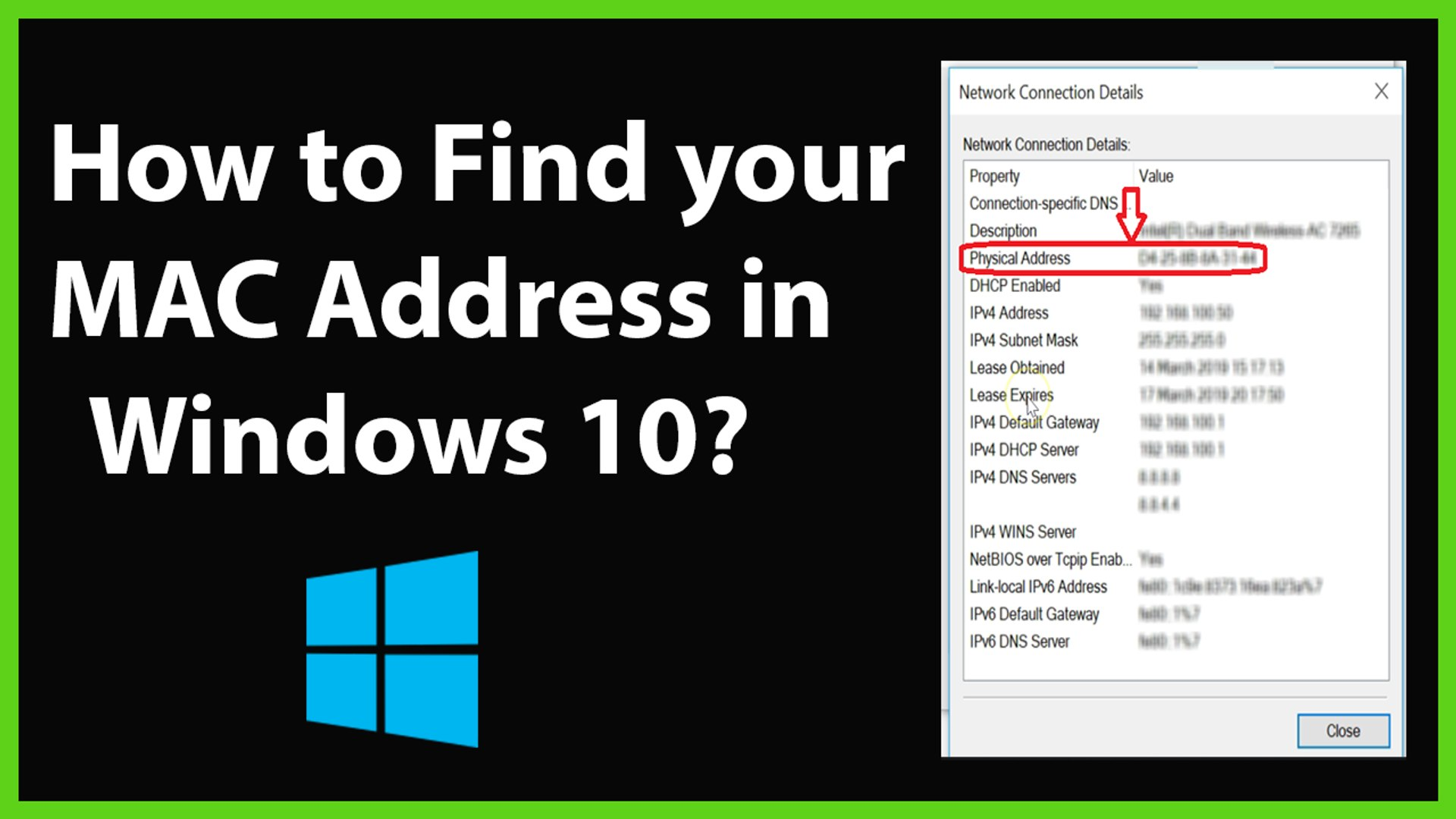 How to Find your MAC Address in Windows 10?