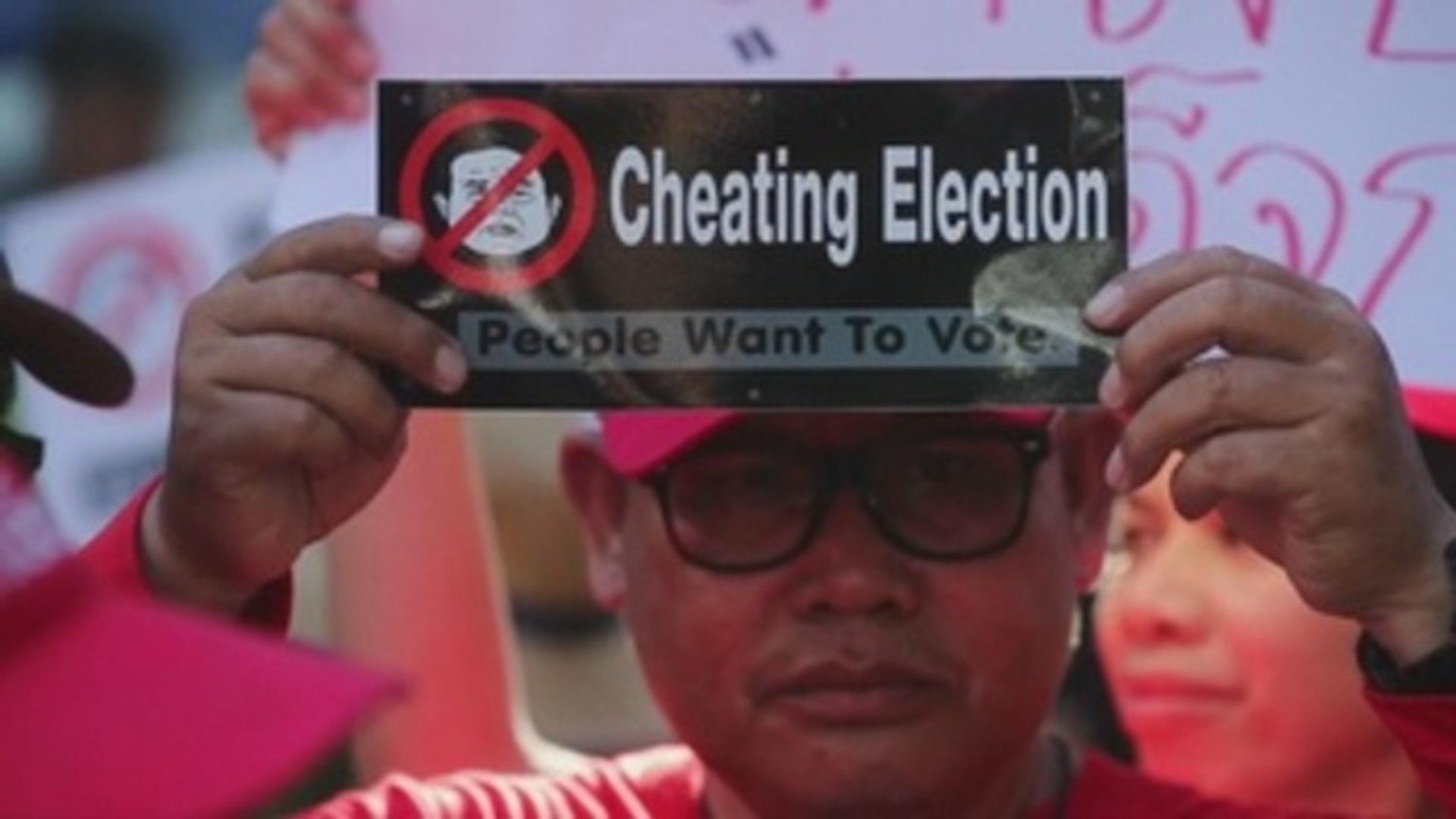 Protestas en Bangkok por la falta de transparencia después de las elecciones