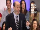 """Rubalcaba:""""Mientras Rajoy calla, Aznar habla"""""""
