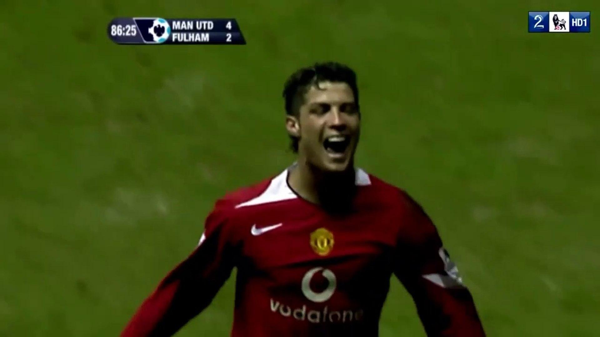 Cristiano Ronaldo ● Goals and Skills ● Manchester United 4:2 Fulham ● Premier League 2005-06