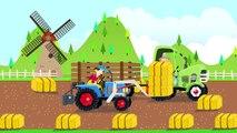 Tracteur avec chargeur de paille - les Agriculteurs et la collecte des bottes de paille Vidéo pour les Bébés et les Enfants - Traktory