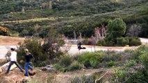 Motorcycle Crash - Yamaha  R1 Lowsides on Mulholland Highway