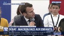 """""""On me traitait de mouton, on me mettait des coups."""" Devant Emmanuel Macron, des enfants évoquent le harcèlement scolaire"""