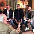 """Premières images de l'interview de Jean-Marie Le Pen par Hanouna, Zeribi et Naulleau diffusée ce soir dans """"Balance ton post"""""""