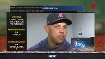 Alex Cora Says Chris Sale's Lighter Spring Training Workload Did Not Impact First Start