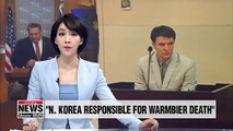 U.S. State Dept. avoids holding Kim Jong-un personally responsible for Otto Warmbier's death