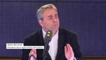 """""""Je ne laisse rien passer face aux mensonges"""" du Rassemblement national, assène Xavier Bertrand"""